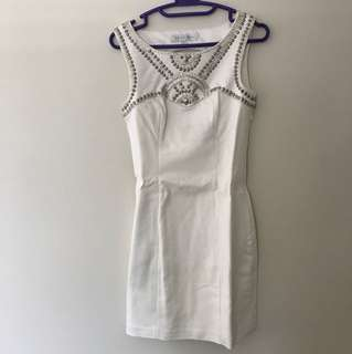 Forever new white dress size 4