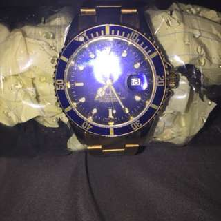 Rolex gold and blue