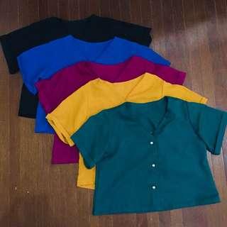 Basic shirt, kancing imitasi