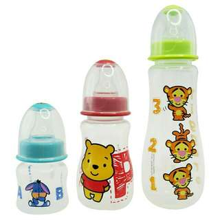 *FREE DELIVERY to WM only / Ready stock* Set of 3 (2,4,9oz) Disney baby bottle set BPA free as shown design/color. Free delivery is applied for this item.