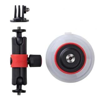 JOBY SUCTION CUP & LOCKING ARM FOR GOPRO / ACTION VIDEO CAMERAS - BLACK/RED