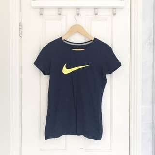 NIKE Navy Slim Fit Top