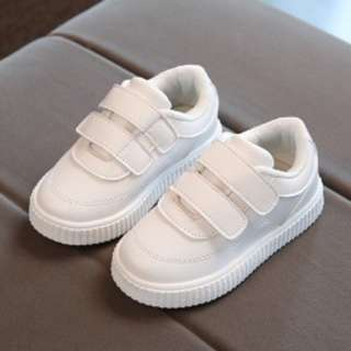 READY STOCK Size23 Unisex Kids Casual Sports Running Shoes WHITE