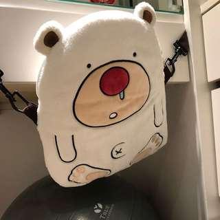 🚚 毛絨輕巧 熊造型後背包 全新轉賣 拍照配件