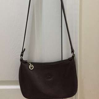 🔥 Price drop 🔥 Vintage Longchamp Crossbody  Leather- dark brown