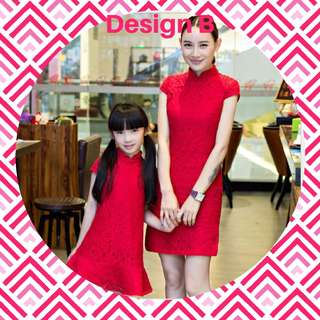 Mother & Daughter Girl CNY Outfit/Cheong Sum/ Qi Pao/Chinese Traditional Outfit (Ready stock) Free reg. mail for limited time!