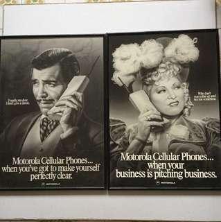 80年代Motorola 手机海報2 pieces65x45cm