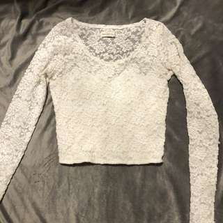 Abercrombie and Fitch lace top - size s
