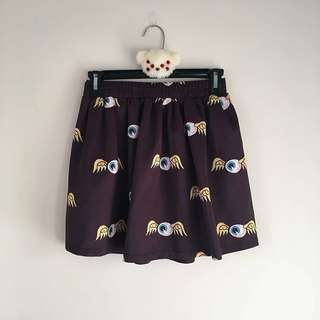 ROMWE Flying Eyeball Skirt