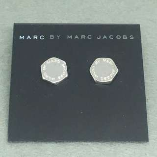 Marc Jacobs Sample Earrings 六角形銀色耳環