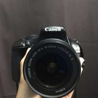 Canon 1100D with free action camera