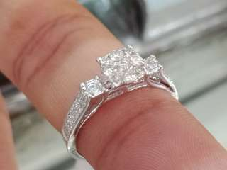 .55 Carats Illusion Diamond Ring