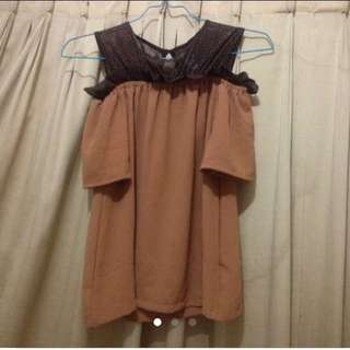 New blouse coklat