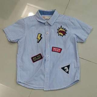 Boys Shirt With Patch Designs