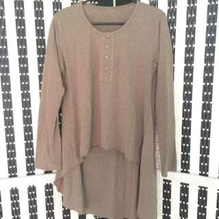 Atasan top stripe brown