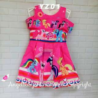 (Nett Price) My Little Pony Dark Pink Dress