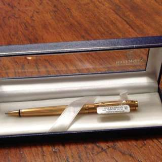Watermen gold plated black ink ball point pen