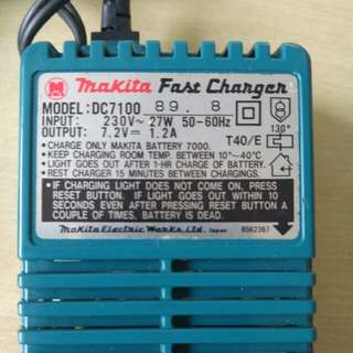 Makita Fast charger. Model DC7100