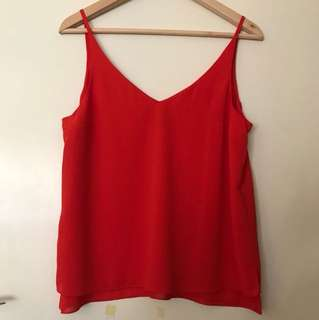TOP SHOP RED TOP