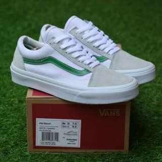 Vans oldskool white green