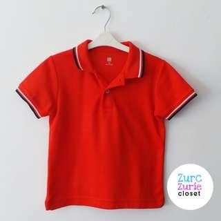 Uniqlo Red Polo Shirt | Size 110/4-5yo | Excellent Condition