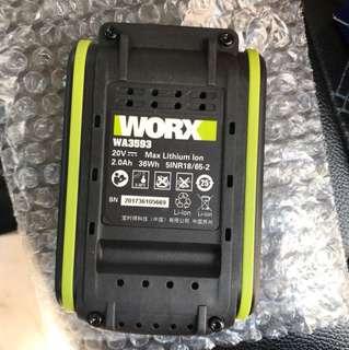 Worx新款20v 鋰電池