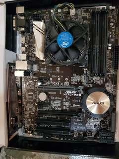 Asus h170 pro mobo + i5-6600 intel processor