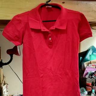Van Heusen Red Polo Shirt-Dress (L)
