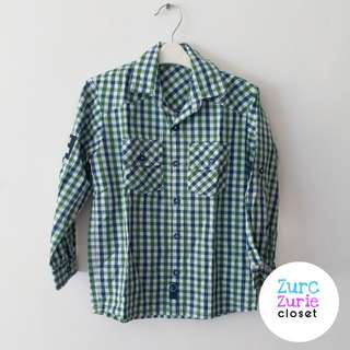 Peppermint Green LS Polo | Size 4 (Fit to Slim 5T) | Excellent Condition (used once)