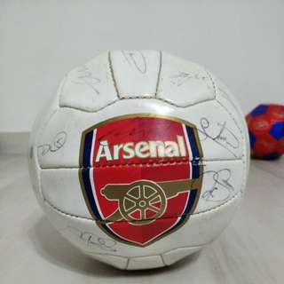 Arsenal Autographed Soccer Ball