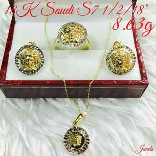 Authentic real gold set of jewellery