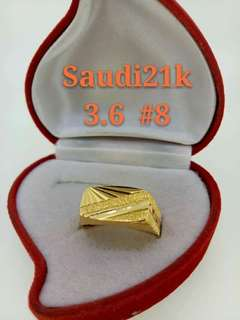 Men's ring Authentic real gold
