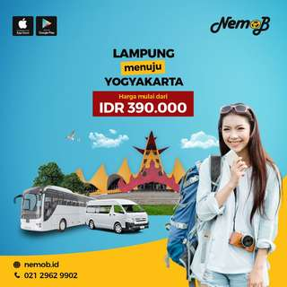 Promo tiket bus murah rute Jogja - Lampung dan sebaliknya. Hubungi NEMOB.
