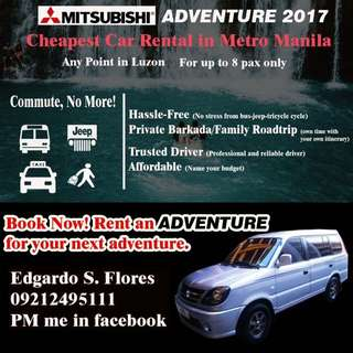 Car Rental up to 8 seater