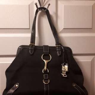 Lovely Condition Ralph Lauren Black Equestrian Handbag