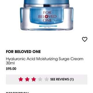 For Beloved One Hyaluronic Acid moisturizing surge cream