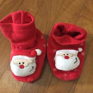 Mothercare Baby Santa Bedroom Socks