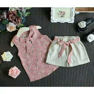 Baju anak aile rabbit set import