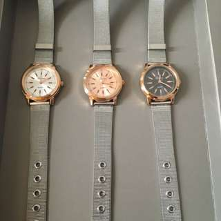 Geneva silver -rosegold watch