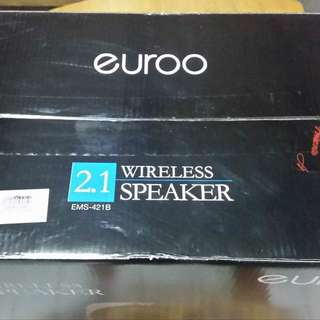 Euroo 2.1 wireless speaker with bluetooth