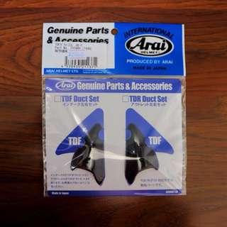 Genuine arai TDF DUCT repair and mods Smoke