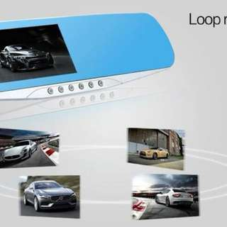 "4.3"" Car DVR Dash Cam XH302 Vehicle Blackbox Mirror Car DVR Dual Lens Camera Full HD 1080P Rear Parking 4.3 inch cam Recorder ."