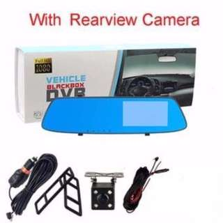 A75 Car DVR Mirror DUAL Camera Front/Back 1080p touch screen Dashboard Camera