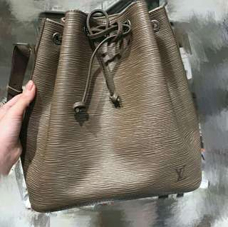 LV EPI Leather Bucket Bag