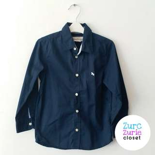L.O.G.G. Navy Blue LS Polo   Size 110/4-5yo   Excellent Condition