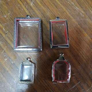 Thai amulet silver and ss casing.
