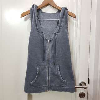Nwt LORNA JANE Grey Vest Hoodie Yoga Top - XS fit S small - authentic