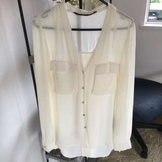 Zara Basics White Blouse S