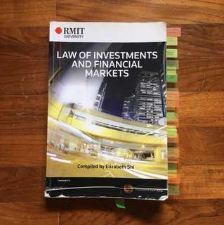 RMIT Law is Investment & Financial Markets