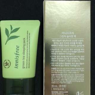 Innisfree green tea sleeping pack 30ml